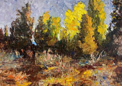 Fall-color-oil-impressionistic-painting-Russian-style-with-thick-paint