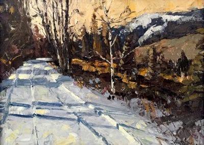 central oregon landscape painting titled Road Less Traveled