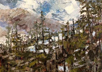 Central Oregon landscape painting titled Above Bend by Shelly Wierzba