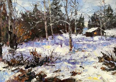 Shelly Wierzba fine art oil painting titled February