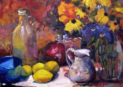 Shelly Wierzba fine art still life painting titled Fresh