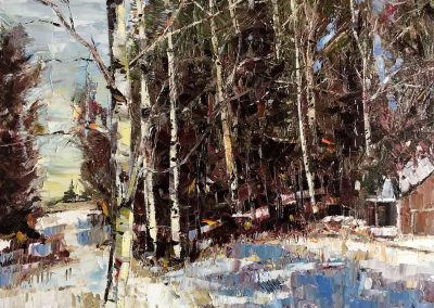 Shelly Wierzba oil painting winter landscape titled Early Morning